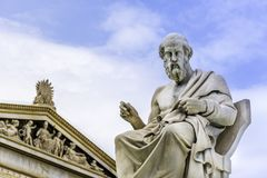 Statua starożytnego grka filozof Plato w Ateny Obrazy Stock