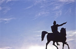 statua Stoccolma xiv del charles Fotografia Stock Libera da Diritti