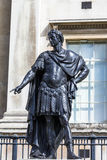 Statua storica di re Giacomo II dell'Inghilterra Londra, Regno Unito Fotografia Stock Libera da Diritti