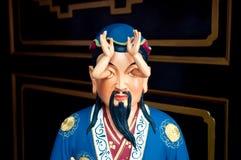 Statua strana a Che Kung Temple, Hong Kong Fotografie Stock Libere da Diritti