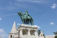 Statua su Budapest Fotografie Stock