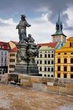 Statua sul ponticello del Karl, Praga Fotografie Stock Libere da Diritti