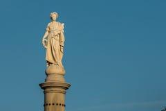 Statua sul Soldiers& x27; Monumento nazionale a Gettysburg Fotografia Stock