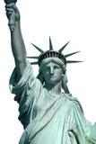 Statua superiore isolata di libertà Fotografie Stock