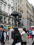 Statua symbol Madryt: El Oso y el Madroño Hiszpania Fotografia Royalty Free