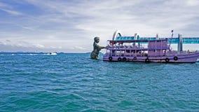 Statua syrenka, Samet wyspa Fotografia Royalty Free