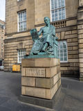 Statua Szkocki filozof David Hume Zdjęcie Royalty Free