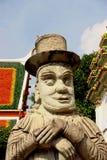 Statua tailandese con un cappello Fotografia Stock