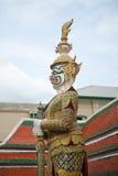 Statua tailandese del guerriero Fotografia Stock