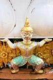 Statua tailandese del guerriero del demone Immagine Stock Libera da Diritti
