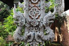Statua tailandese del naga di stile Fotografie Stock