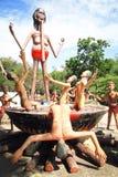 Statua tailandese dell'inferno immagine stock libera da diritti