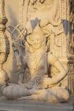 Statua tailandese di angelo di stile in tempio Fotografie Stock Libere da Diritti
