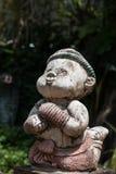 Statua tailandese di pugilato in Wat Chai Mongkon - tempio buddista, Chian immagine stock