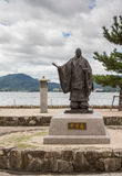 Statua Taira Żadny Kiyomori na Miyajima wyspie Obrazy Royalty Free