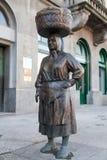 Statua targowa kobieta przy Croatia Fotografia Royalty Free
