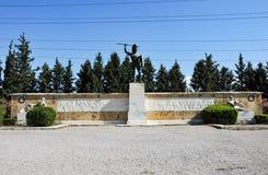 Statua in Termopili, Grecia di Leonidas fotografia stock