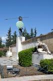 Statua in Termopili, Grecia di Leonidas fotografie stock