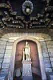 Statua in un franare il waterpark del castello di Hellbrunn immagine stock libera da diritti