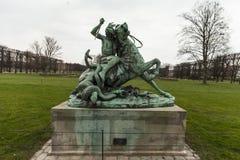 statua in un parco del copenahagen Fotografie Stock Libere da Diritti