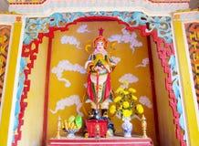 Statua variopinta asiatica dell'imperatore Immagine Stock