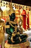 Statua verde smeraldo del Buddha Fotografia Stock