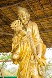 Statua vicino al grande monumento di Buddha, Phuket, Tailandia Immagini Stock Libere da Diritti