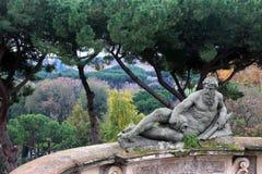 Statua in Villacelimontana, Roma Fotografie Stock