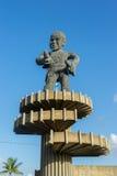 Statua - viste intorno a Georgetown, Guyana immagine stock