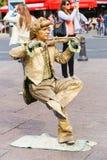 Statua vivente dell'oro - Parigi Immagini Stock