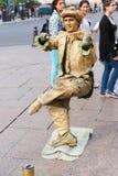 Statua vivente - Parigi Immagini Stock Libere da Diritti