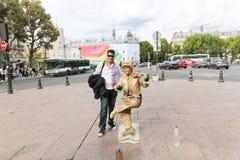 Statua vivente - Parigi Fotografie Stock