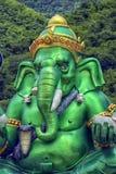 Statua władyka Ganesh z Kuan Yin Rzeczy pomyślność zdjęcie stock