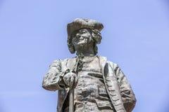Statua Włoski dramatopisarz Carlo Goldoni, Wenecja fotografia stock