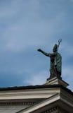 Statua w Aosta- włoszczyzny mieście Obrazy Royalty Free