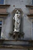 Statua w ścianie Zdjęcia Royalty Free