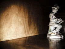 Statua w czerni, teatr scena Obraz Stock