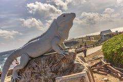 Statua w formie iguany fotografia stock