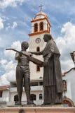 Statua w głównym placu Paracho Meksyk Zdjęcie Stock