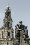 Statua w Historyczny Drezdeńskim Obraz Royalty Free