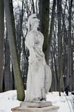 Statua w lesie Obraz Royalty Free