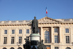 Statua w mieście Reims, Francja Obrazy Stock