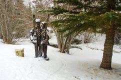 Statua w ośrodku narciarskim fotografia stock