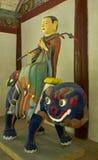 Statua w Pohyon świątynny Północny Korea Zdjęcie Stock