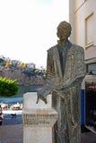 Statua w porcie, Agios Nikolaos Zdjęcie Royalty Free