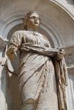 Statua w Wenecja Włochy będącym ubranym puszku dennym powietrzem obraz stock