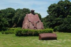 Statua w Zhongshan parku, Shenzhen, Chiny Obraz Stock