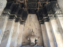 Statua Wat Chaiwatthanaram di Buddha Immagine Stock