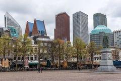 Statua Willem pomarańcze przy Plein Haga Zdjęcia Royalty Free