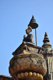 Statua wizerunku królewiątko Ranjit Malla w Bhaktapur Durbar kwadracie Obraz Royalty Free